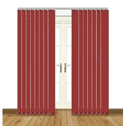 Eclipse odessa redcurrant vertical blinds