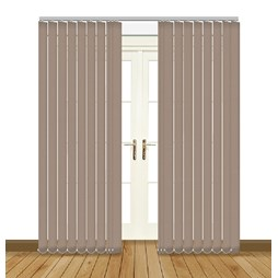 Eclipse Odessa Taupe Vertical Blinds,