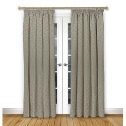 Glacier Driftwood pencil pleat curtains