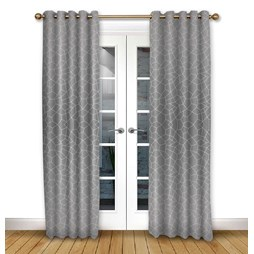Glacier Flint eyelet curtains
