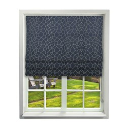 Glacier Ink Roman Blinds