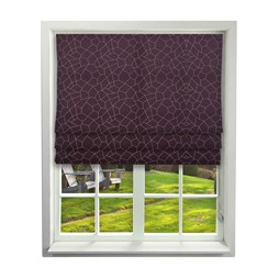 iLiv Glacier Mulberry Roman Blinds
