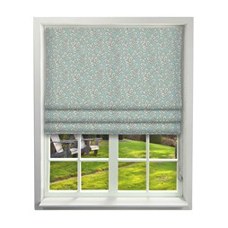 iLiv Scandi Leaves Aqua Roman Blinds