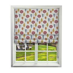 iLiv Scandi Trees scarlet roman blinds