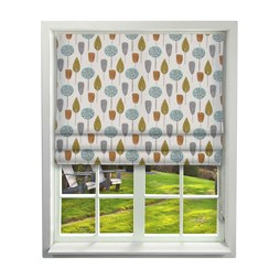 iLiv Scandi Trees Tangerine Roman Blinds