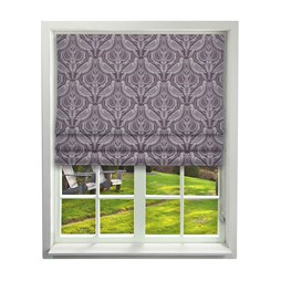iLiv Song Thrush Grape Roman Blinds