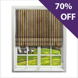 Roman Blinds - Imperio Striped Charcoal   Buy Online From Capricorn