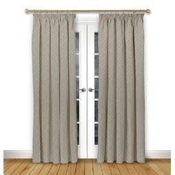 Mistral Driftwood pencil pleat curtain