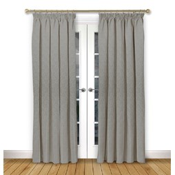 Mistral Flint pencil pleat curtains