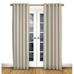 Mistral Ivory eyelet curtain