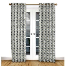 Moo Moo Linen pencil pleat curtain