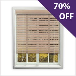 Pine wooden venetian blind now 70% off at Capricorn