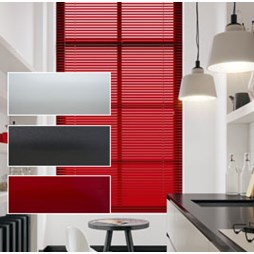 Plain & Metallic Aluminium Venetian Blinds 25mm