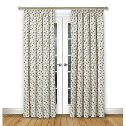 Prism Emerald pencil pleat curtain