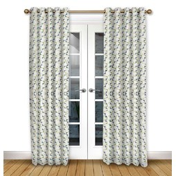Prism Emerald eyelet curtain