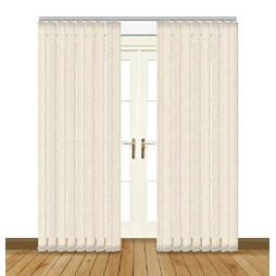 Sahara Cream blackout PVC vertical blinds
