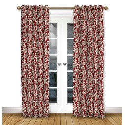 Scandi Birds Scarlet eyelet curtain