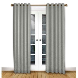 Serenity Flint pencil pleat curtain