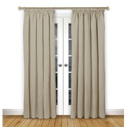 Serenity Ivory pencil pleat curtain