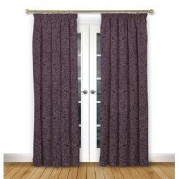 Serenity Mulberry pencil pleat curtain