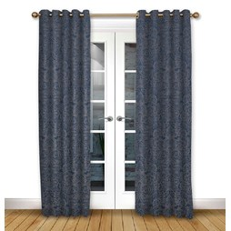 Serenity Ink eyelet curtain