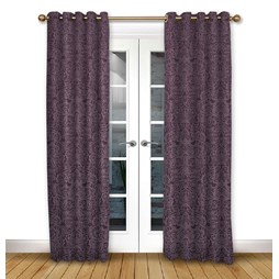 Serenity Mulberry eyelet curtain
