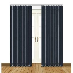 Splash Indigo Vertical Blind Curtain & Blinds Online