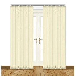 Splash Butter Vertical Blind Curtain & Blinds Online