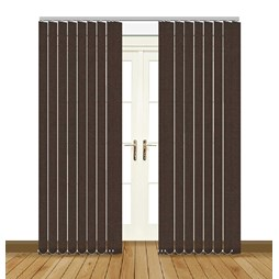 Splash Chocolate Vertical Blind Curtain & Blinds Online