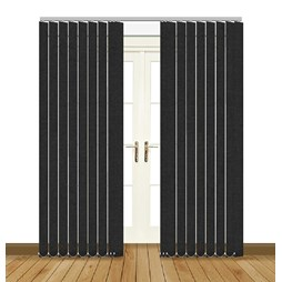 Splash Noir Vertical Blind Curtain & Blinds Online