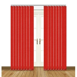 Splash Scarlet Vertical Blind Curtain & Blinds Online