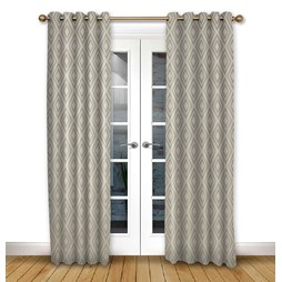 Stratus Driftwood eyelet curtain