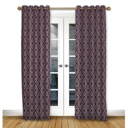 Stratus Mulberry eyelet curtain
