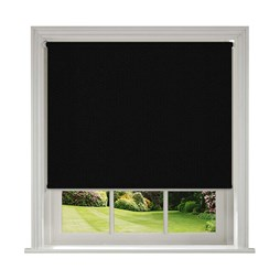 Unilux Black blackout PVC roller blinds