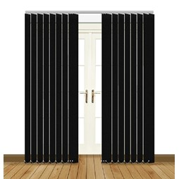 Unilux Black blackout PVC vertical blind