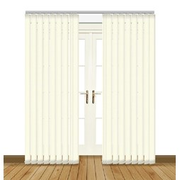 Unilux Butter blackout PVC vertical blind