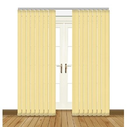 Unilux Buttercup blackout PVC vertical blind