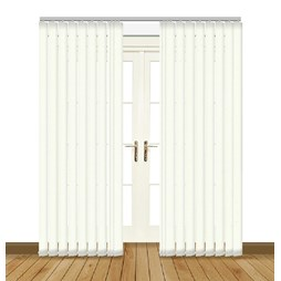 Unilux Cream blackout PVC vertical blind