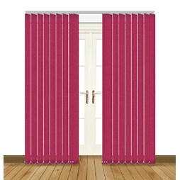 Unilux Flamingo blackout PVC vertical blind
