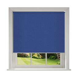 Unilux Imperial Blue blackout PVC roller blinds