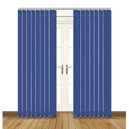 Unilux Imperial blue blackout PVC vertical blind