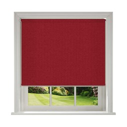 Unilux Lava red blackout PVC roller blinds