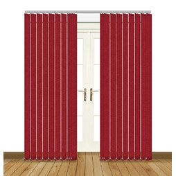 Unilux Lava red blackout PVC vertical blind