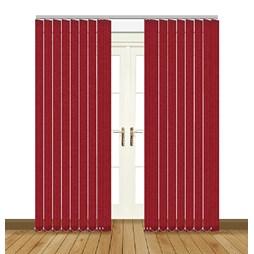 Unilux Lava red blackout PVC vertical blind