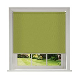 Unilux Lime green blackout PVC roller blinds