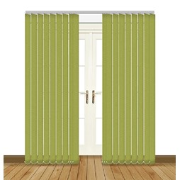 Unilux Lime blackout PVC vertical blind