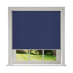 Unilux Marine blue blackout PVC roller blinds