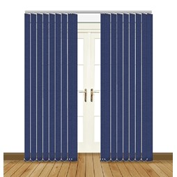 Unilux Marine blue blackout PVC vertical blind