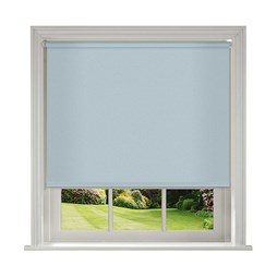 Unilux Powder Blue blackout PVC roller blinds