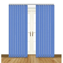 Unilux Surf blue blackout PVC vertical blind